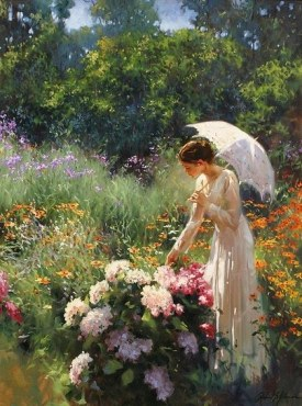 Mulher no Jardim